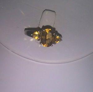 Golden Citrine Ring